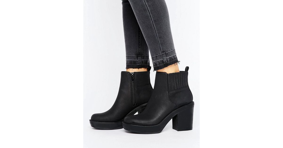 577f0931669 ASOS Black Enchanter Chunky Ankle Boots