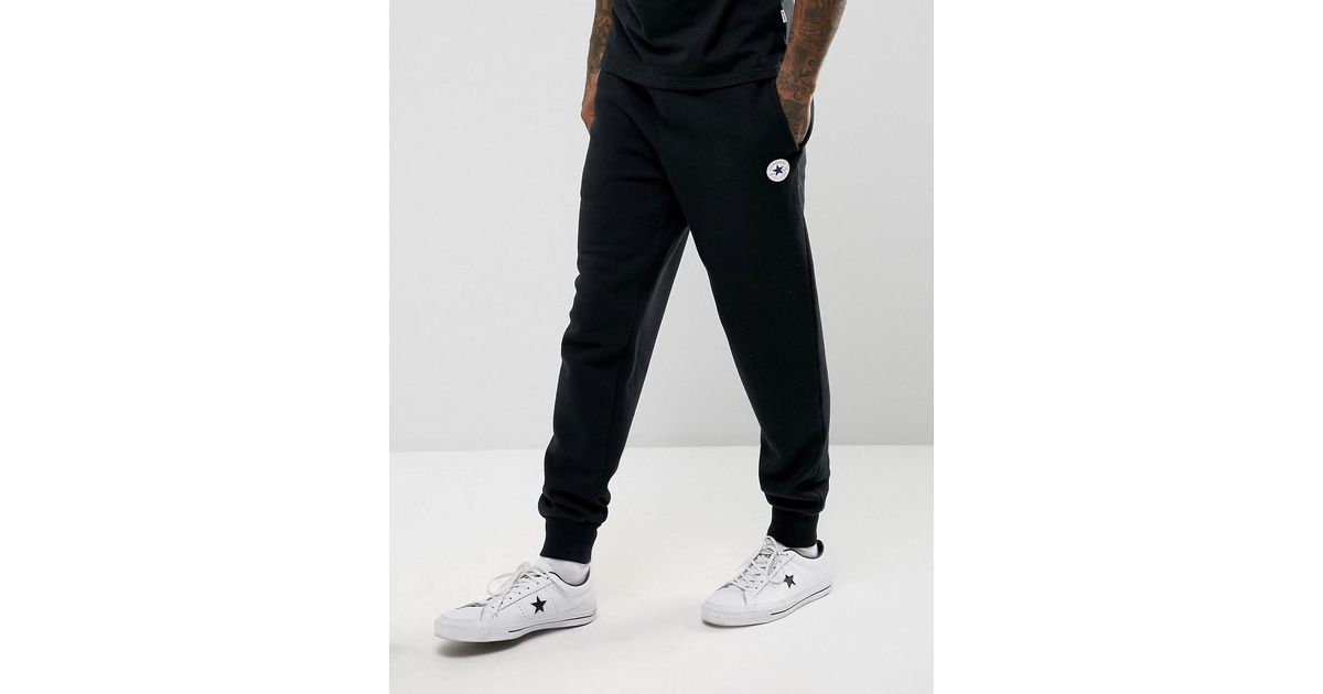 cb6d1fed61afae Lyst - Converse Chuck Patch Joggers In Black 10004631-a04 in Black for Men