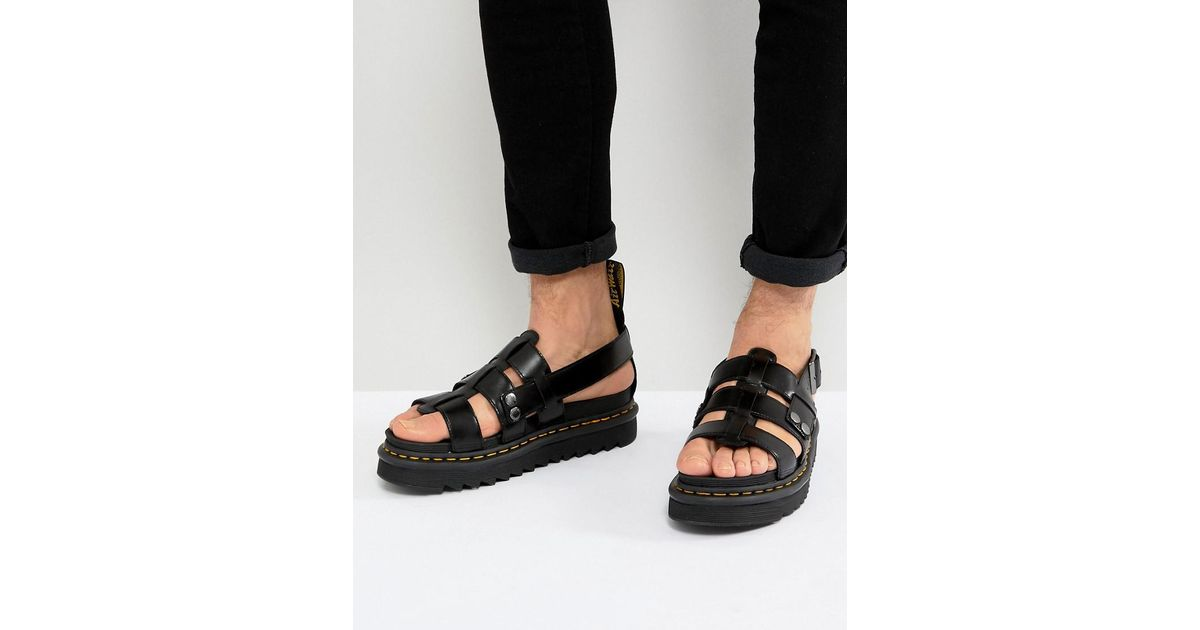 search for clearance 2018 sneakers uk cheap sale Dr. Martens Terry Strap Sandals In Black for men