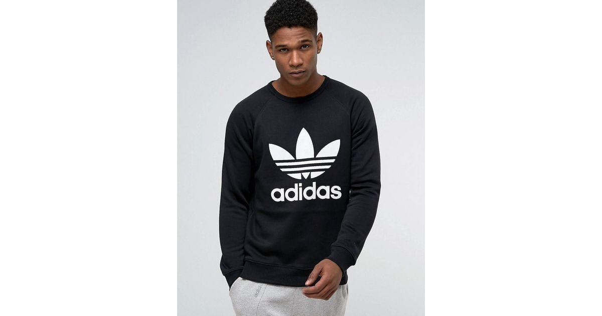 Adidas Originals adidas originals Trefoil Crew Sweatshirt BLACK