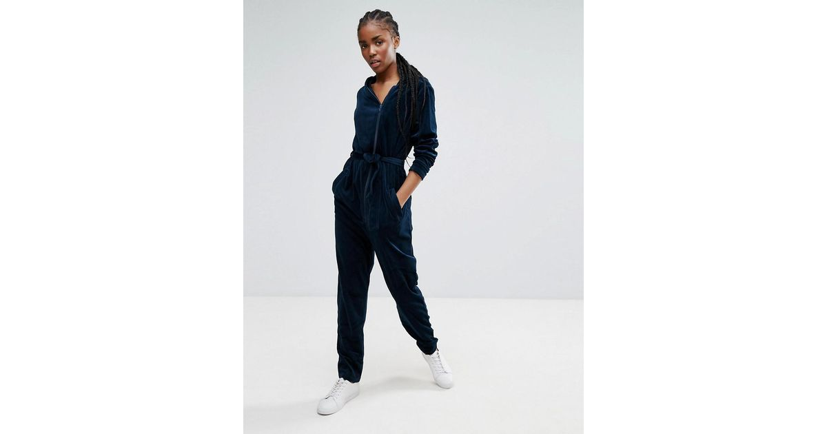 871e716616e Lyst - B.Young Belted Jumpsuit in Blue