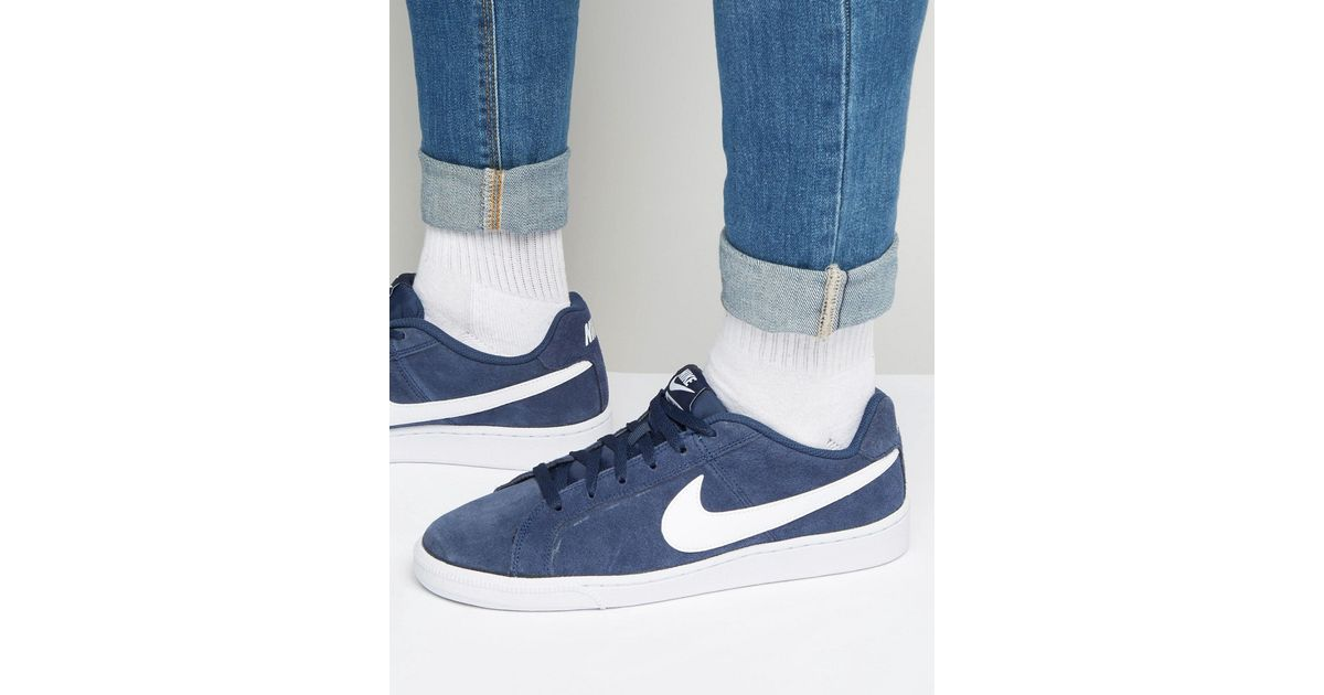 Nike Court Royale Suede Trainers In Blue 819802-410 in Blue for Men - Lyst 18c8fd422
