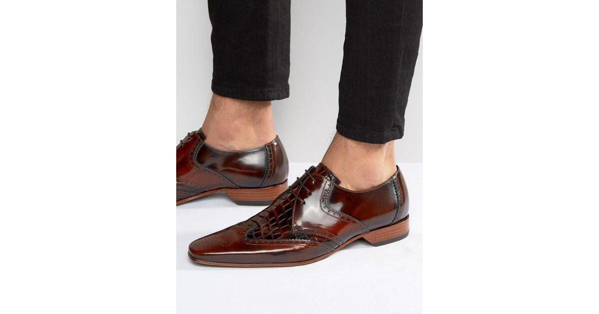 Jeffery Ouest Escobar Chaussures Richelieu En Brun - Brun 9NB19M4Z