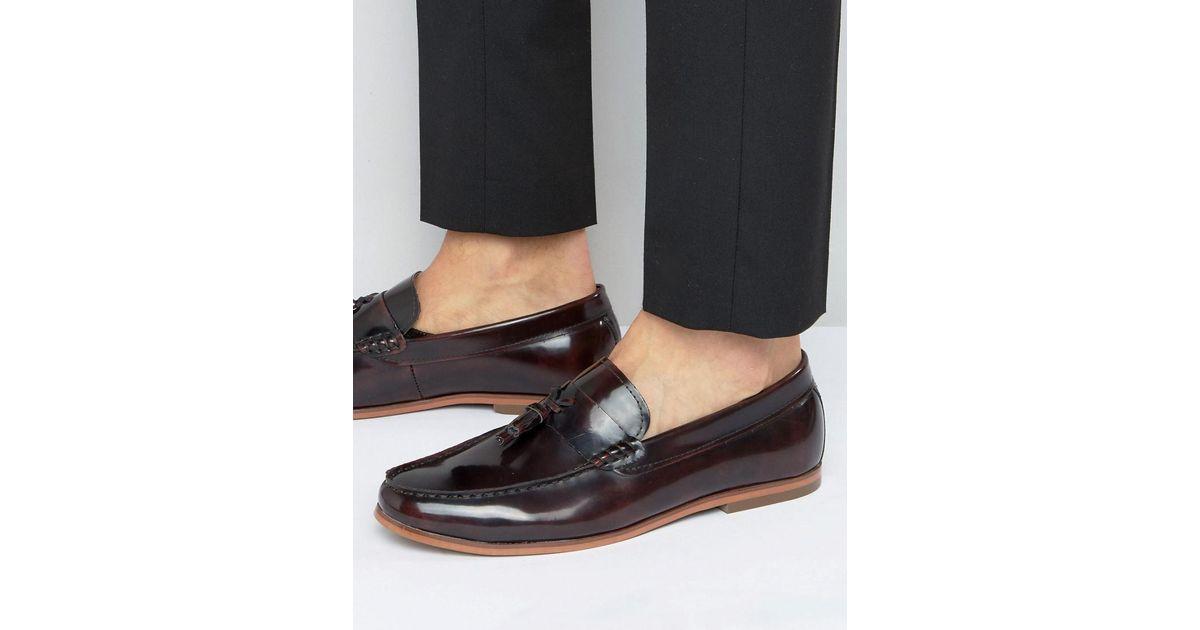 Lambretta Leather Tassel Loafers In
