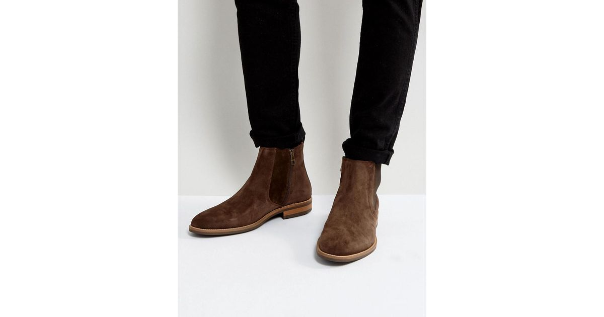 e5c89b4f74ff34 Lyst - Tommy Hilfiger Daytona Chelsea Boots Suede In Brown in Brown for Men