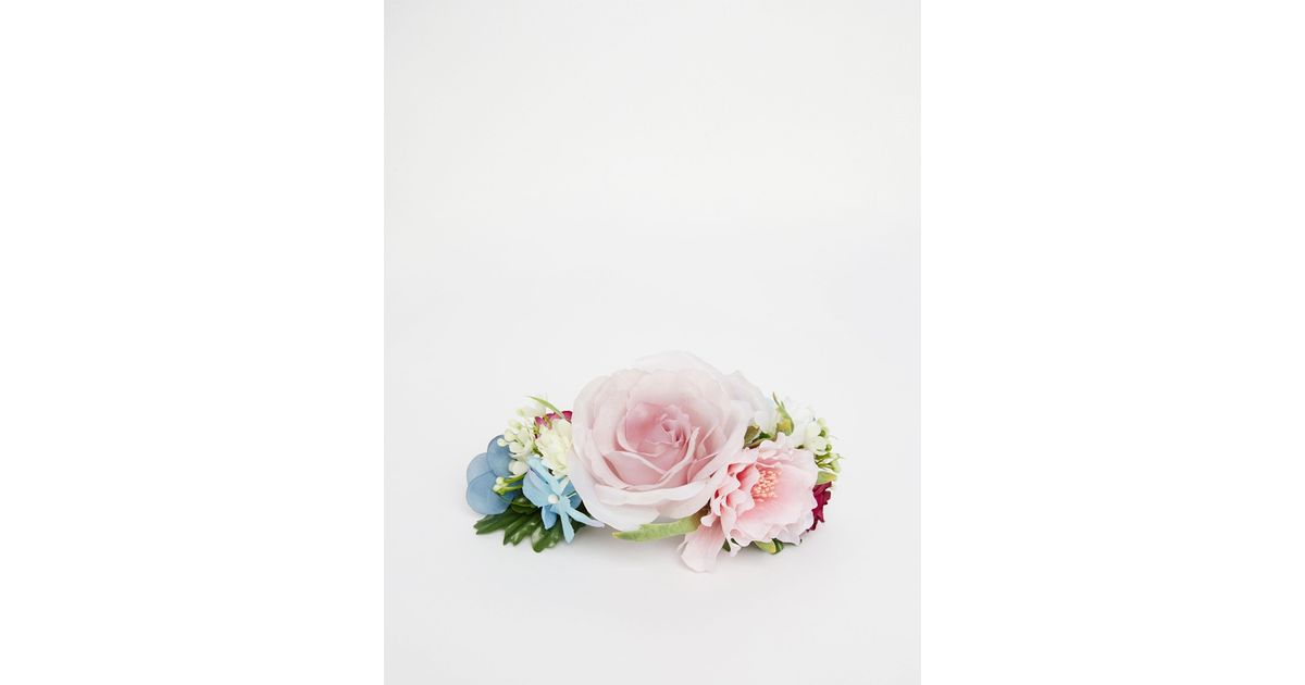 Asos Wedding Guest Hair Corsage Clip In Floral (Pink)