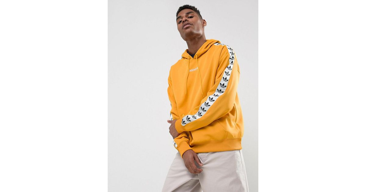 pick up outlet for sale sells Adidas Adicolor Tnt Tape Hoodie In Yellow Az8127 for men