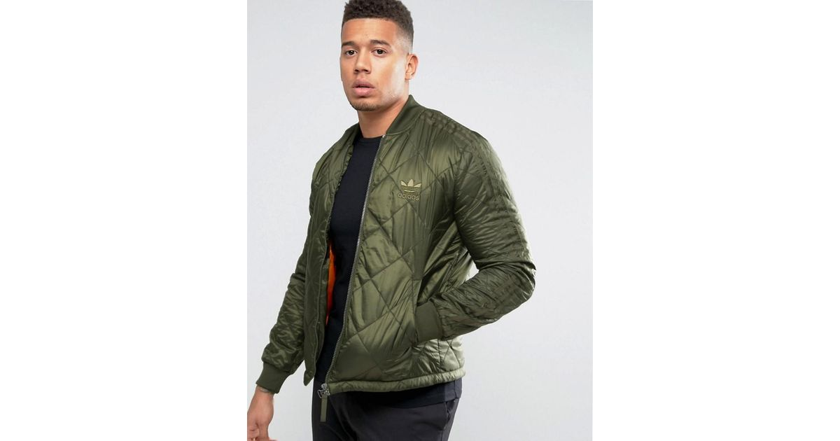 f1c883e9b Lyst - adidas Originals Quilted Superstar Bomber Jacket Ay9144 in Green for  Men