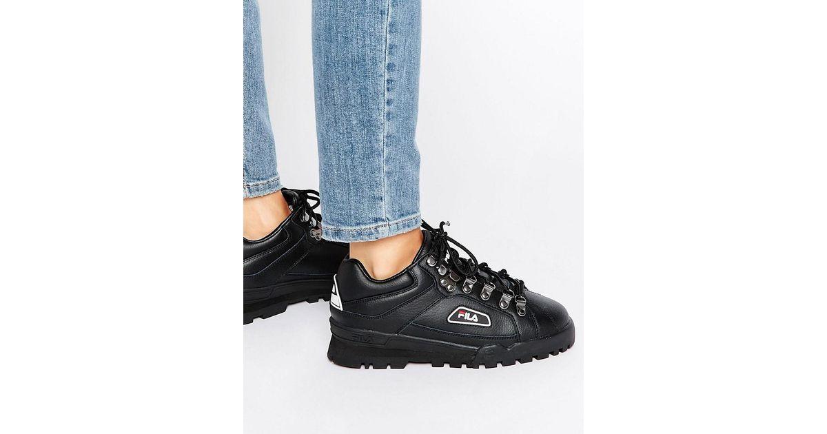 Fila Leather Trailblazer Boots In Black