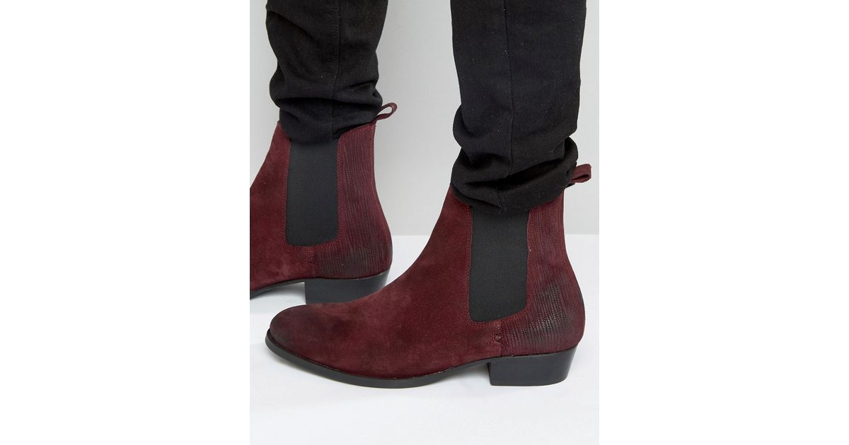 cde6e042cb3 House Of Hounds Keats Suede Chelsea Boots in Blue - Lyst