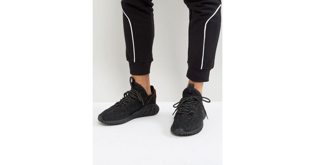 new arrivals 17d06 a871f adidas Originals Tubular Doom Sock Primeknit Sneakers In Black By3559 in  Black for Men - Lyst