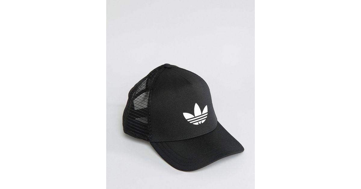95d51349 adidas Originals Trucker Cap In Black Aj8954 in Black for Men - Lyst
