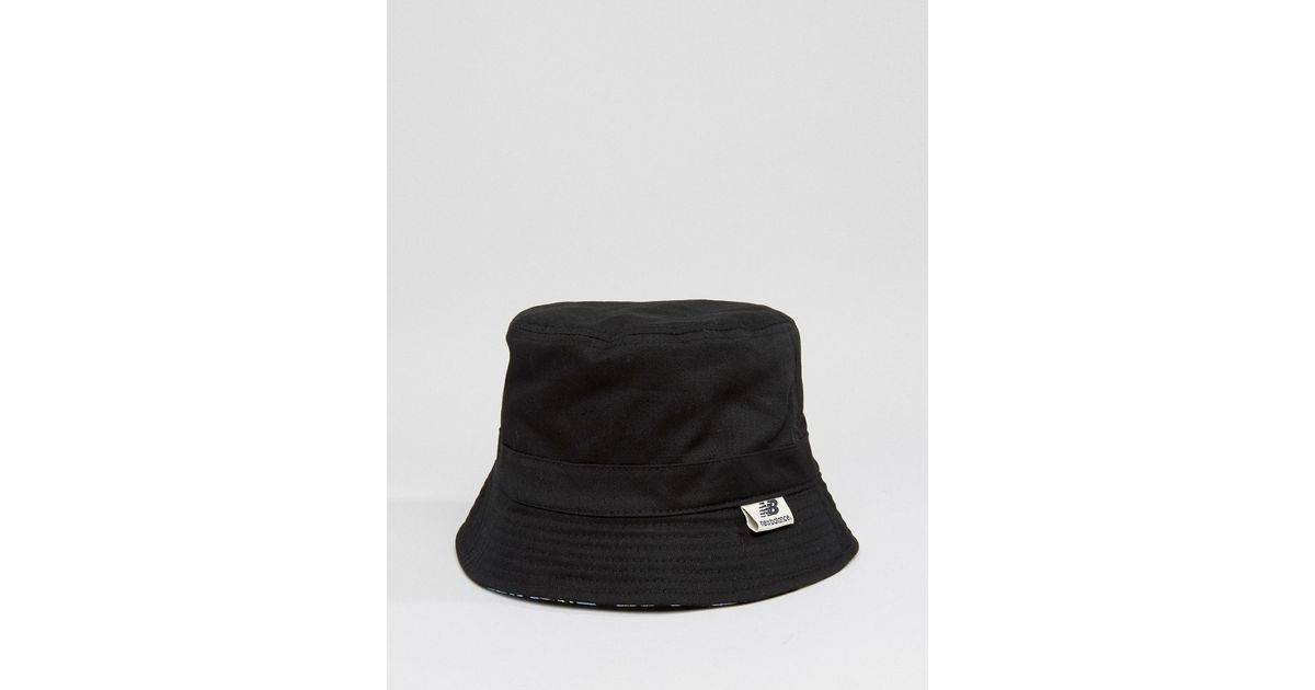 New Balance Glasto Bucket Hat In Black for men
