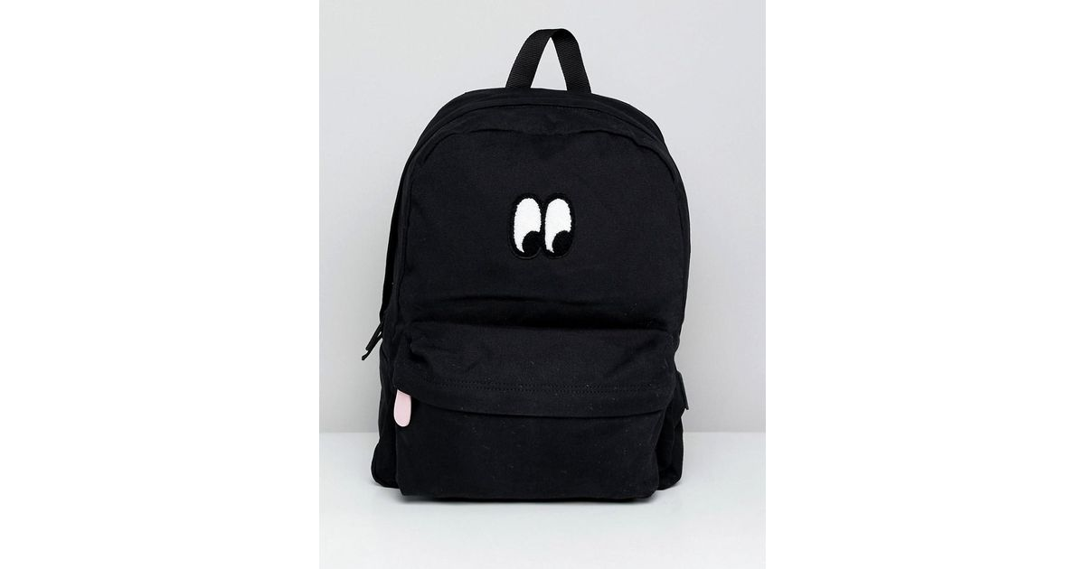 0ff9748395 Vans X Lazy Oaf Eyeball Backpack in Black - Lyst
