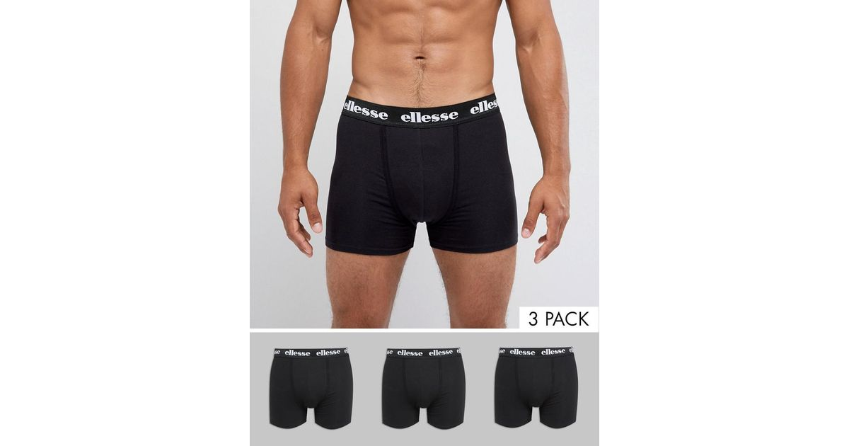 Sale Professional 3 Pack Trunk in Black - Black Ellesse Cheap Sale Visa Payment Amazing Price Cheap Online Cheap From China mJVEHQNB6