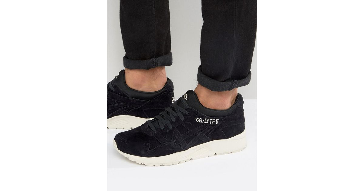 reputable site 6b249 be51f Asics Gel-lyte V Suede Sneakers In Black H736l 9090 for men