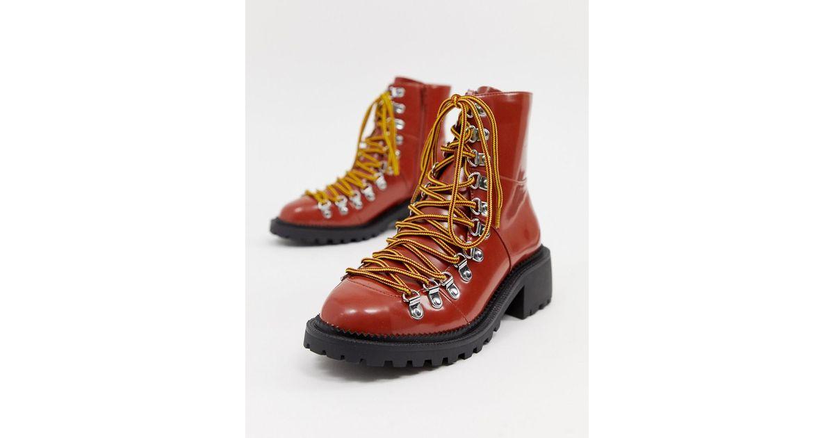 623d119caea ASOS Brown Ablaze Chunky Hiker Boots
