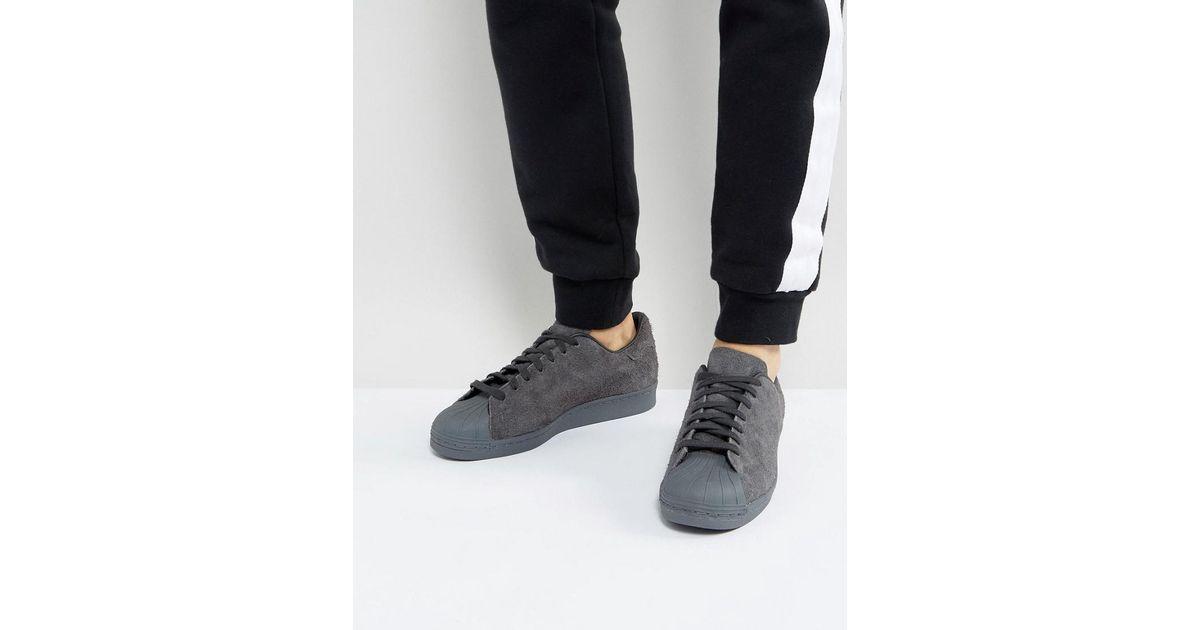 adidas originals superstar trainers grey