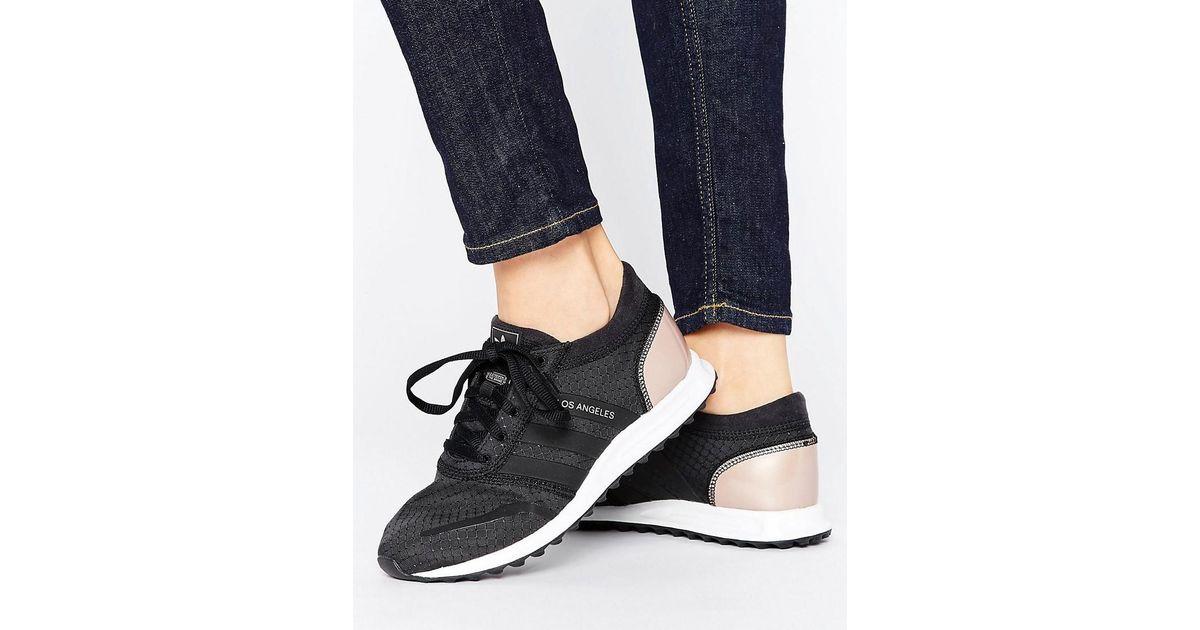 Lyst - adidas Originals Originals Black And Copper Los Angeles Sneakers in  Black for Men 91406316b