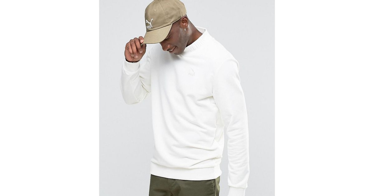 165456035c5 Lyst - PUMA High Neck Sweatshirt With Embroidered Logo Exclusive To Asos in  White for Men