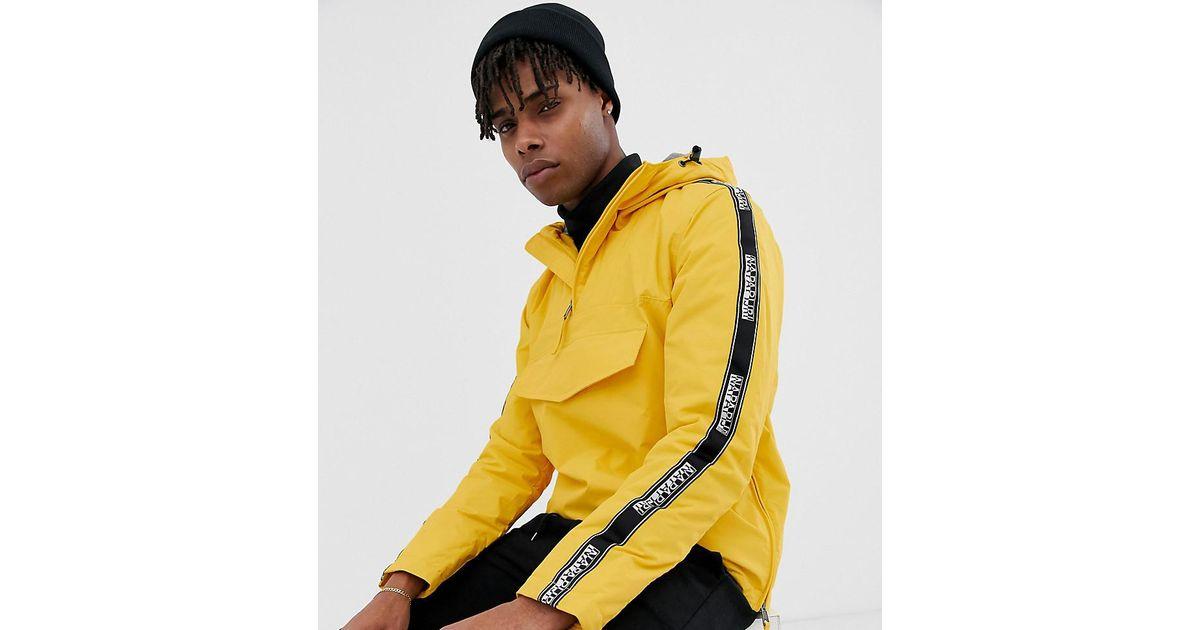 5887aa2f1 Napapijri Rainforest Taped Jacket In Black Exclusive At Asos for men