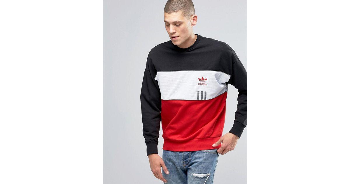 Adidas Originals Id96 Crew Sweatshirt In Black Ay9252 for men