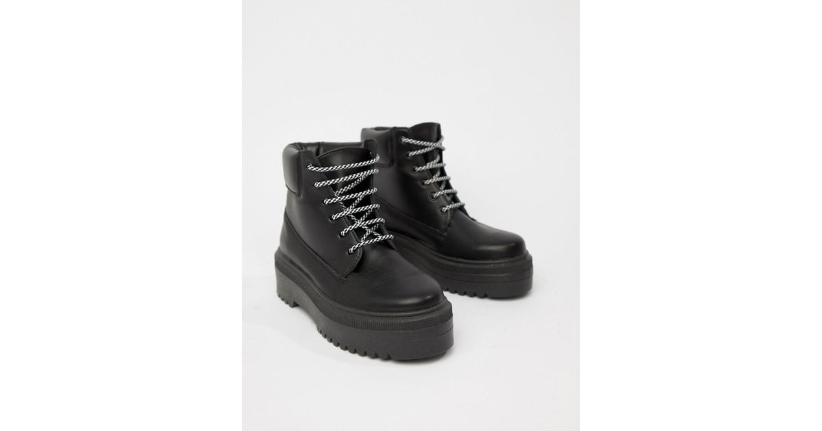 cd69f5178a8 ASOS Black Almighty Chunky Hiker Boots