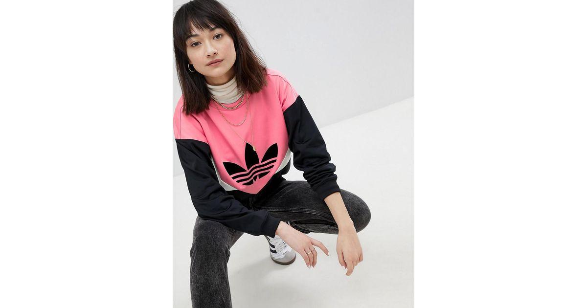 Adidas Originals Colorado Panelled Sweatshirt In Black And Pink