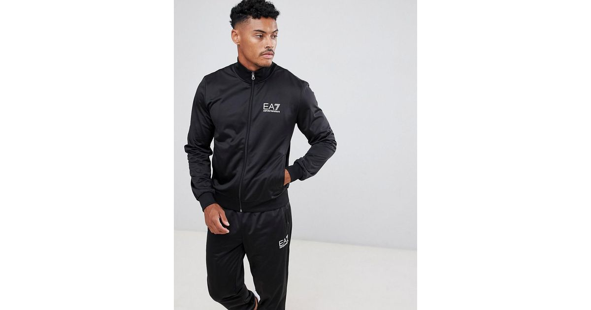 d198c6bc9df2 Lyst - EA7 Train Core Id Tricot Zip-thru Logo Tracksuit Set In Black in  Black for Men
