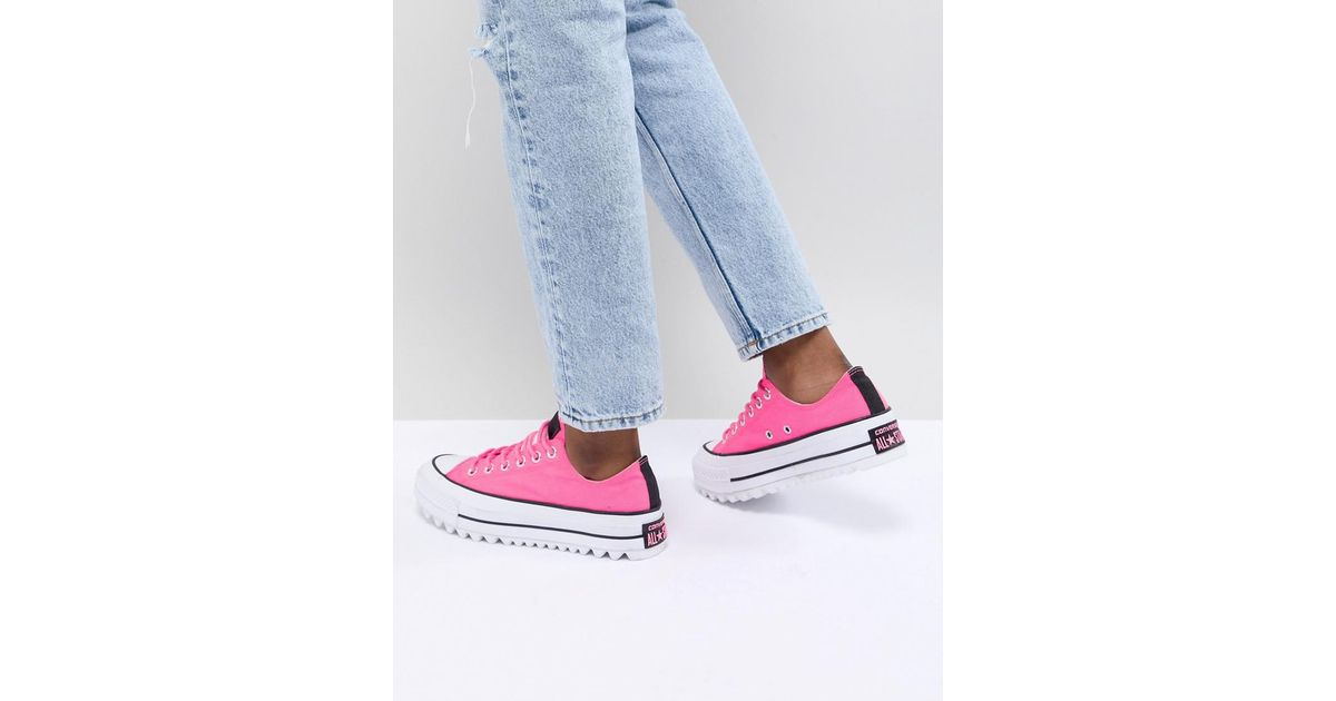 new products incredible prices selected material Converse Platform Ripple Sneakers In Pink