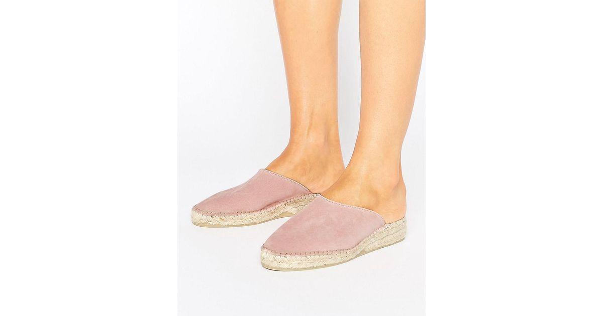 bd2c4ed232e Park Lane Pink Suede Mule Espadrille Shoe