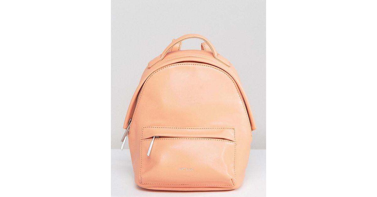 matt nat mini munich backpack in orange lyst. Black Bedroom Furniture Sets. Home Design Ideas