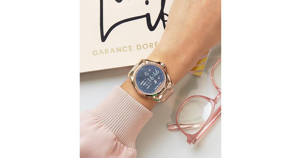 Michael Kors Metallic Mkt5004 Access Rose Gold Bradshaw Smart Watch