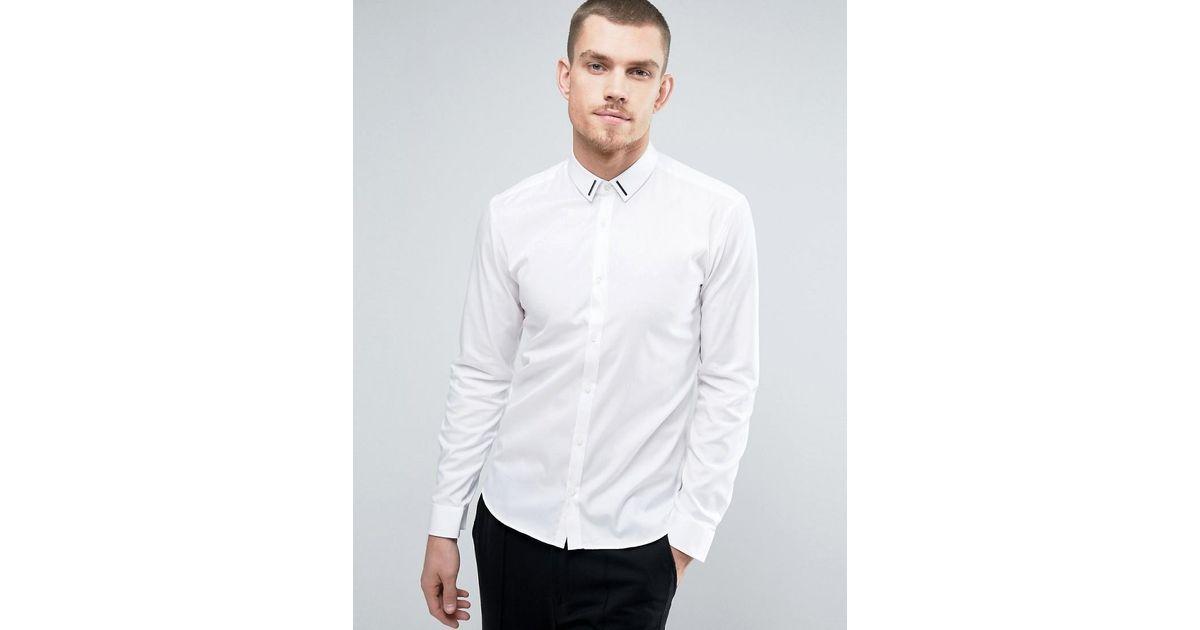 EZ Tuxedo Gitman Button Down White Weba Stretch Shirt