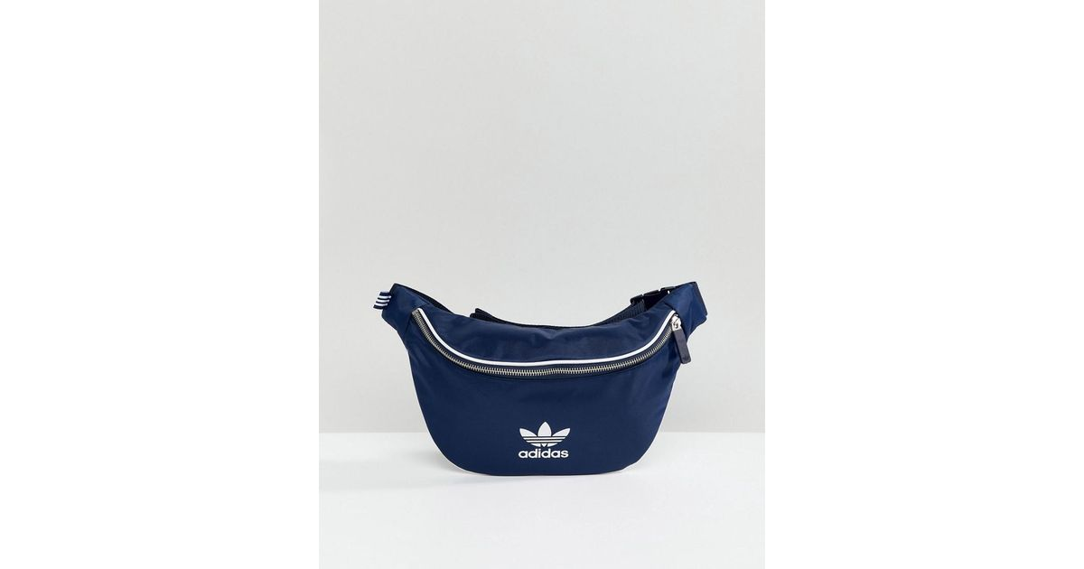 ffbb5a440d2 adidas Originals Adicolor Bumbag In Navy Cw0608 in Blue for Men - Lyst