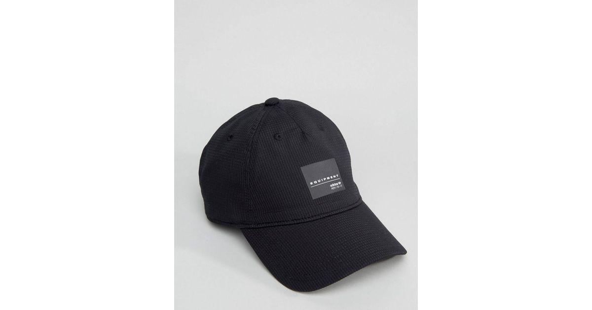 6fddeb45e8e Lyst - adidas Originals Equipment Cap In Black Bj9767 in Black for Men