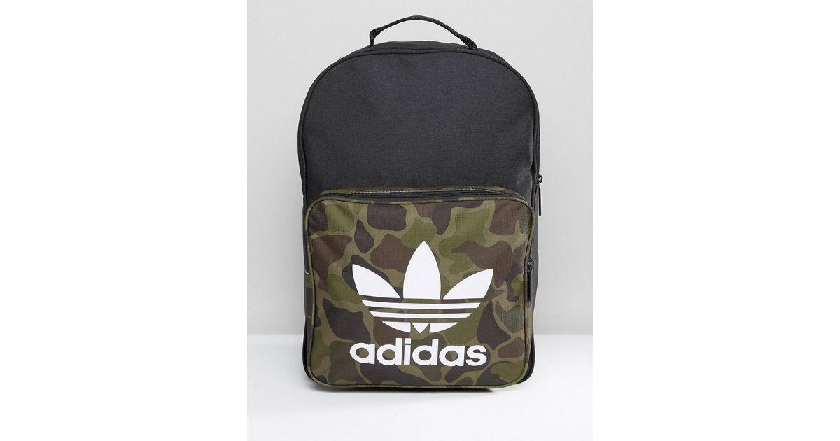 Lyst - adidas Originals Classic Backpack In Camo Bk7214 in Black for Men 70d129ddea3ec
