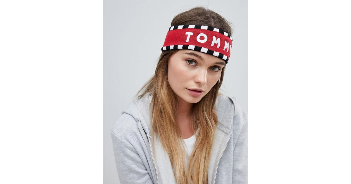 d62603a9817 Lyst - Tommy Hilfiger Logo Headband in Red