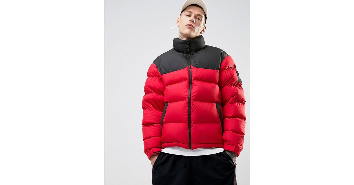 77ef95ae9 The North Face 1992 Nuptse Down Jacket 2 Tone In Red/black for men