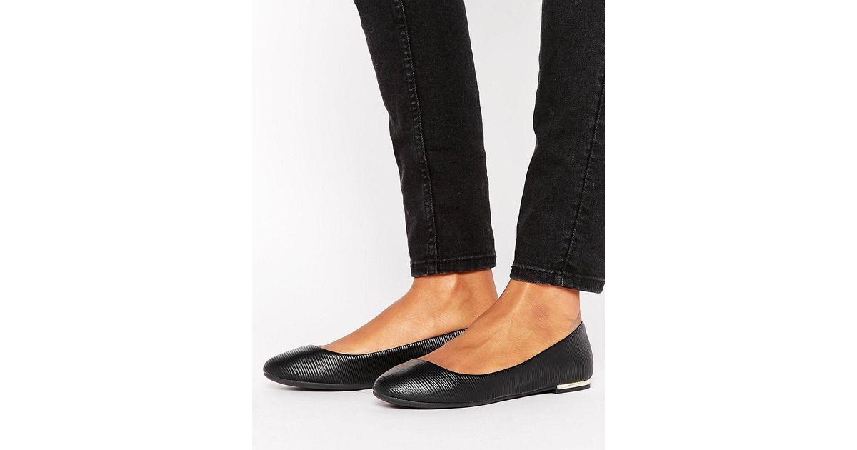 130add770 Call It Spring Fibocchi Metal Heel Ballet Flat Shoes in Black - Lyst