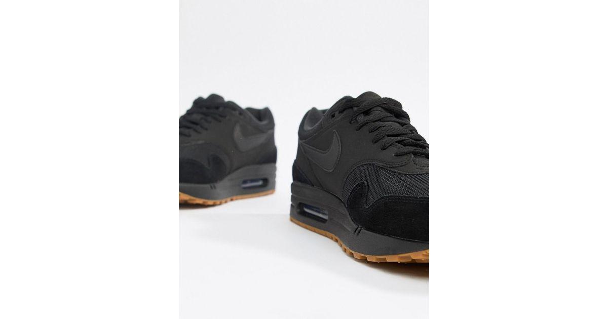 Nike Air Max 1 Trainers In Black Ah8145 007 for men