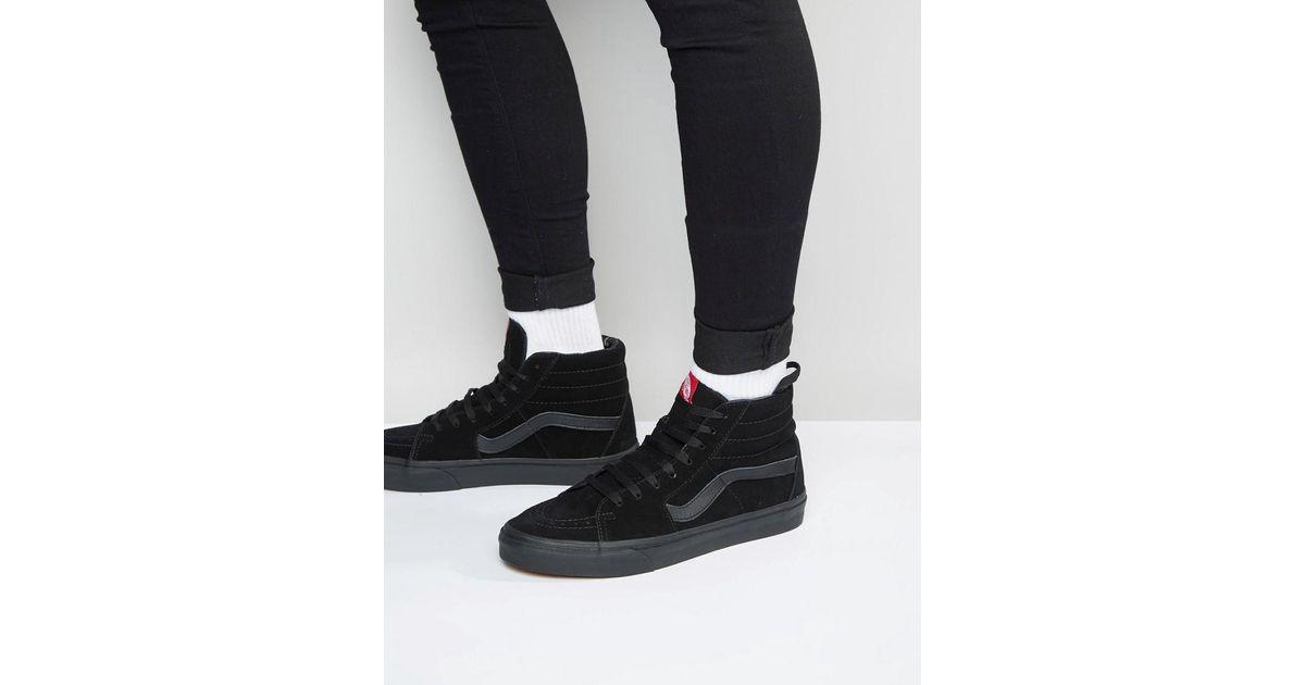 Sk8-Hi - Baskets en daim - Noir VD5IBKA Vans pour homme en coloris Black
