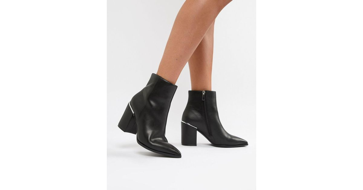 80439a8c ASOS Black Ebele Pointed Ankle Boots