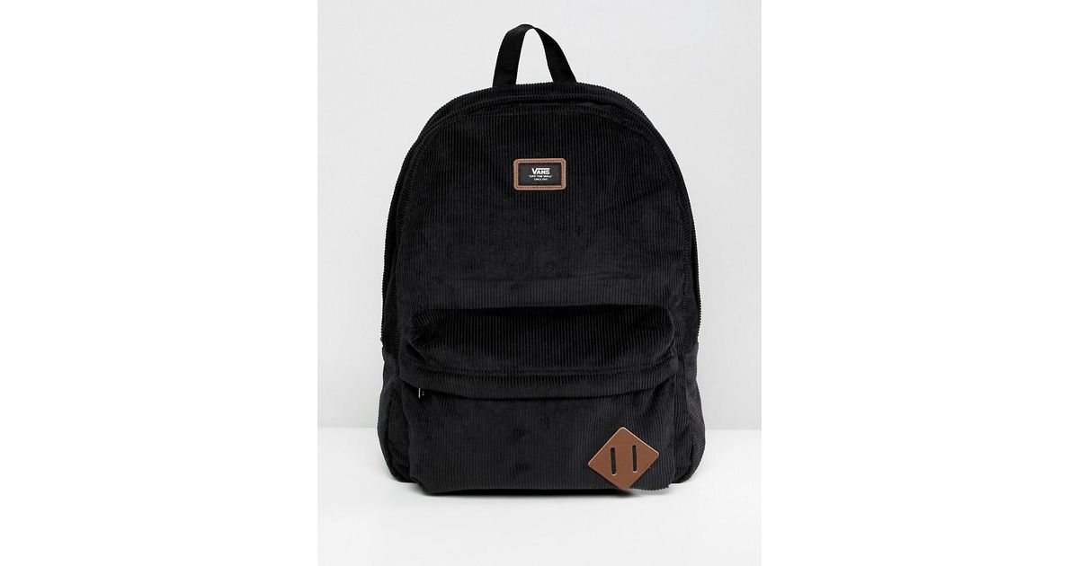 Backpack Corduroy Vn000oniz471 Skool Vans In For Men Old Ii Black lKF1JTc