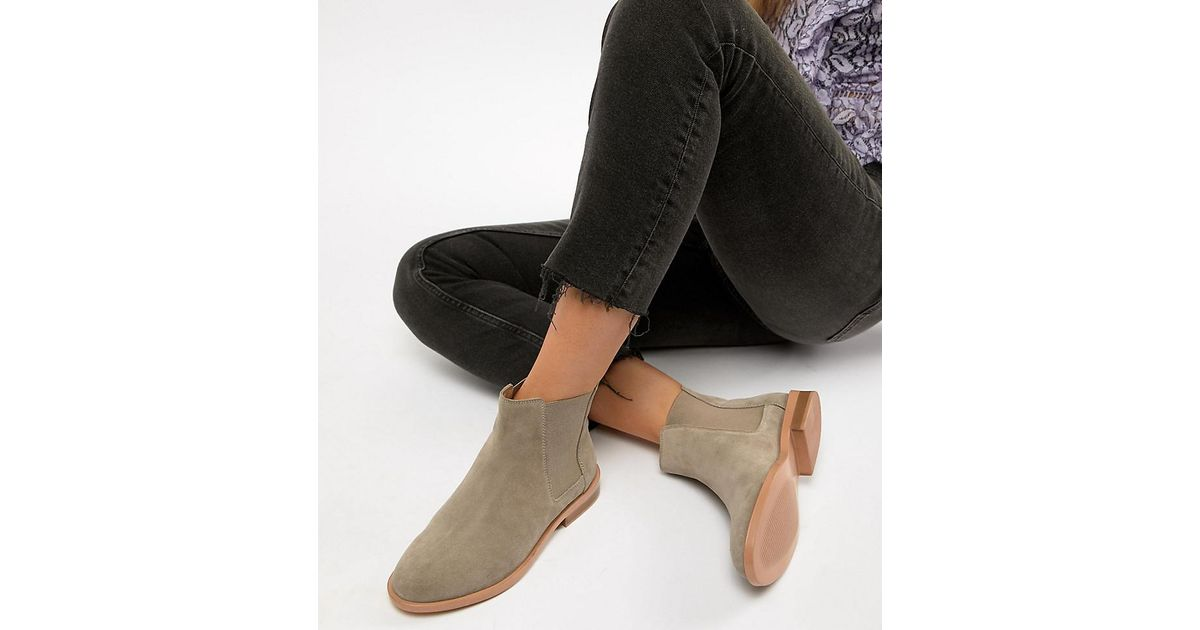 1eef31a7a40 Lyst - ASOS Wide Fit Aura Suede Chelsea Ankle Boots