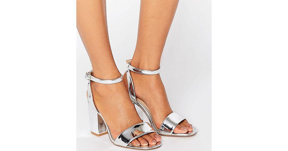 ASOS Asos Heron Wide Fit Heeled Sandals