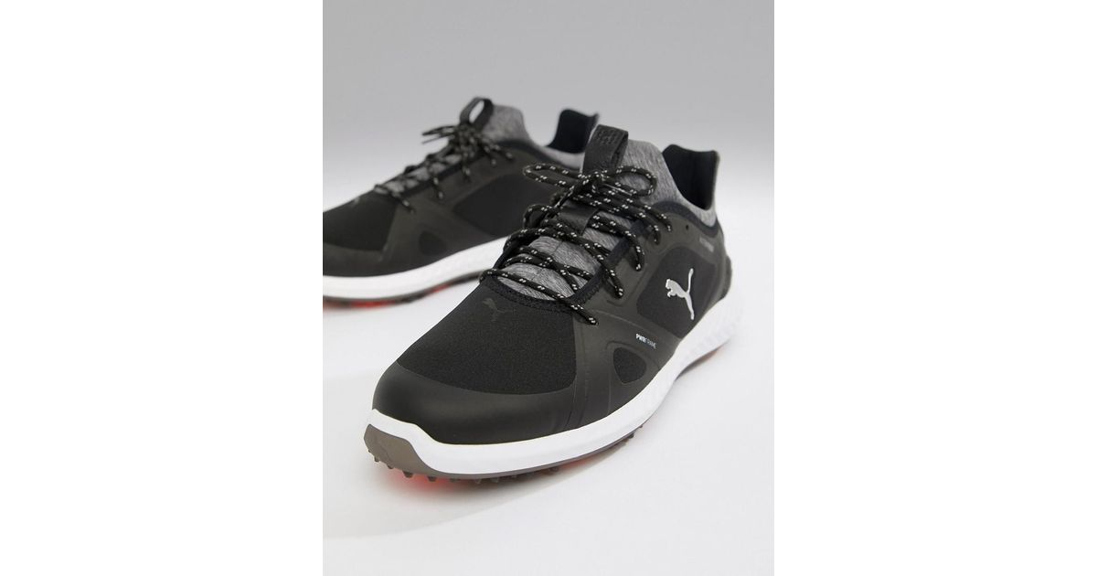 c306e96b77b1f1 Lyst - PUMA Golf Ignite Power Adapt Spiked Trainers In Black in Black for  Men