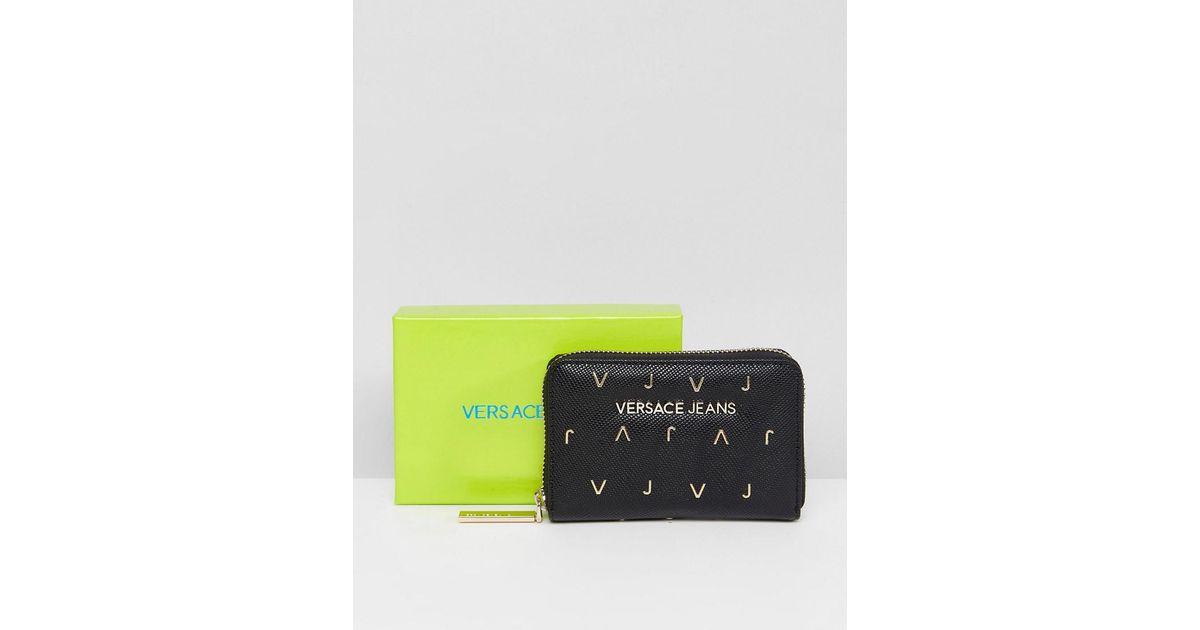 Jeans VJ Small Zip Around Purse - Black Versace r2dAjuSwi