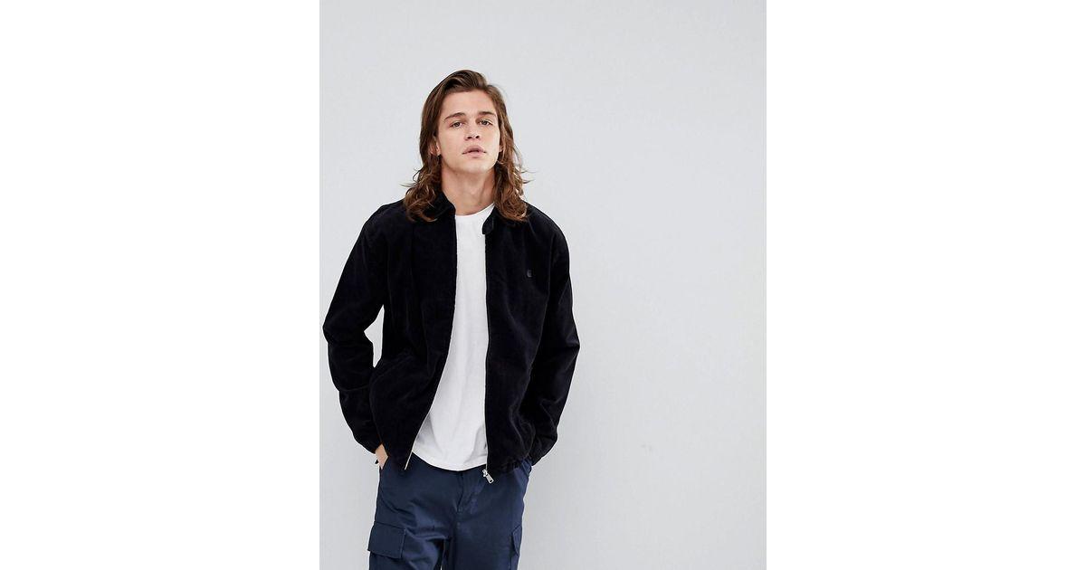 najlepiej sprzedający się Najlepsze miejsce najlepiej sprzedający się Carhartt WIP Blue Madison Jacket In Corduroy for men