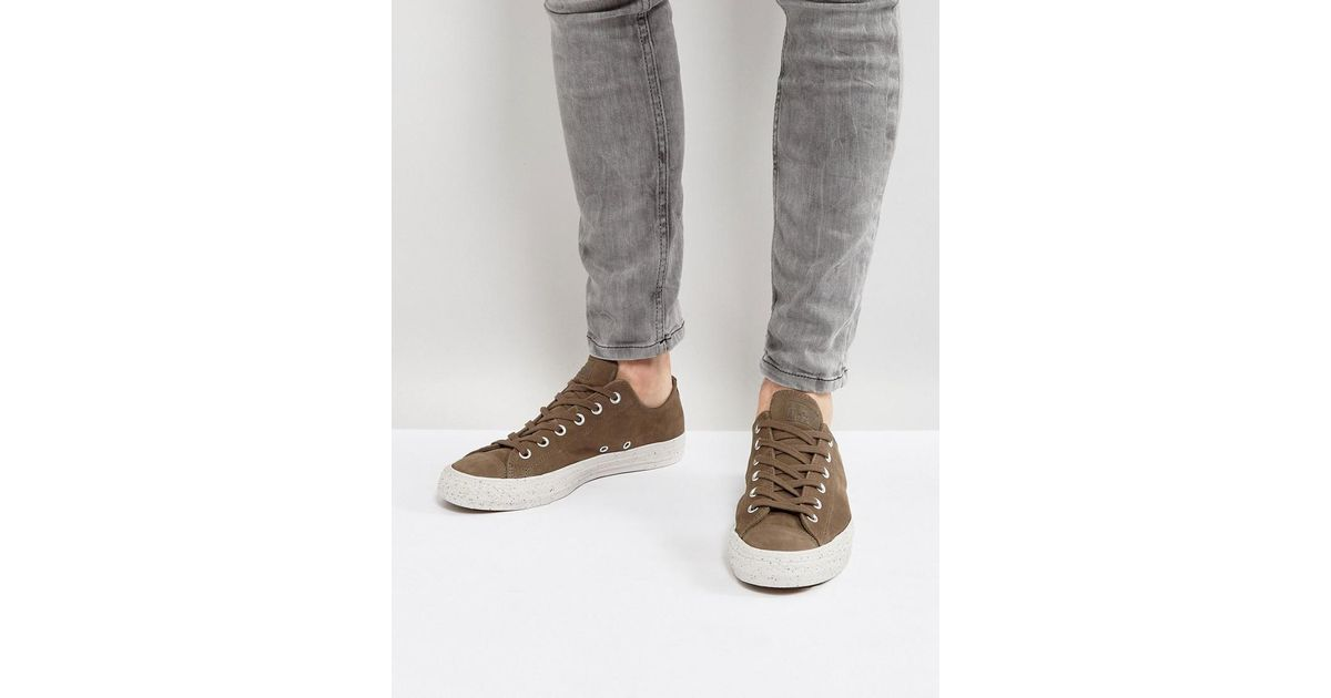 Chuck Taylor All Star Ox Suede Plimsolls In Brown 157598C210 - Brown Converse Cheap Sale 8uRogHSkMs